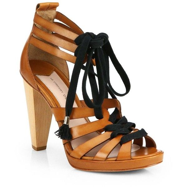Derek Lam Leather Lace-Up Sandals shop for sale brand new unisex official for sale AS6j6C