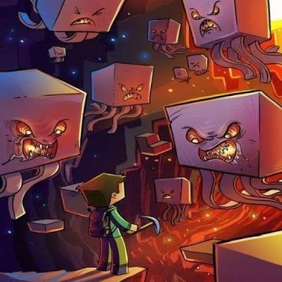 Steve Vs Ghast Caricatura Imagenes De Minecraft Minecraft