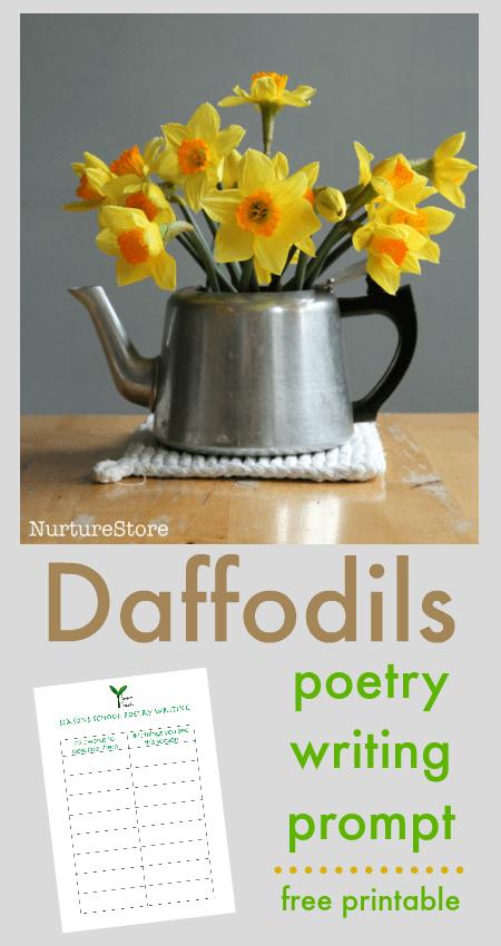Daffodils poem prompts for children - NurtureStore