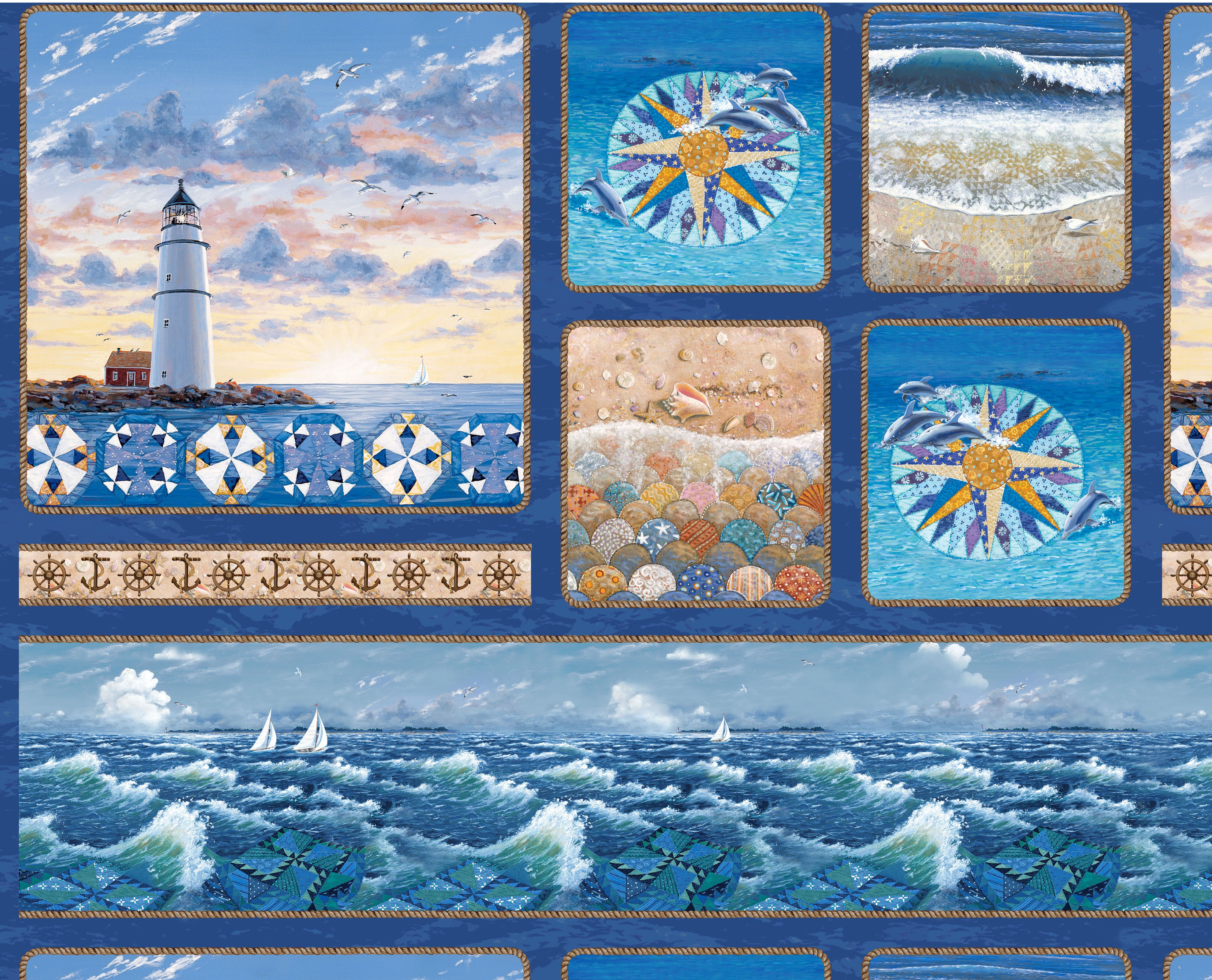 Sea Quilts By Rebecca Barker Watercolor Quilt Landscape