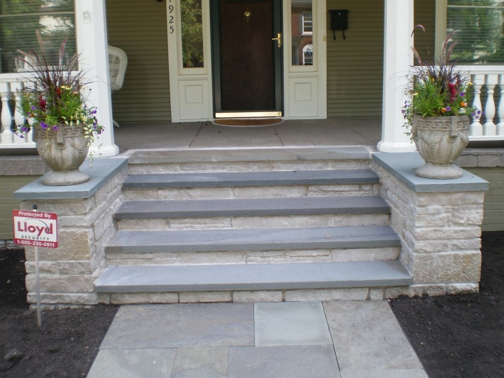 Bluestone Outdoor Stairs Google Search Front Porch Stone