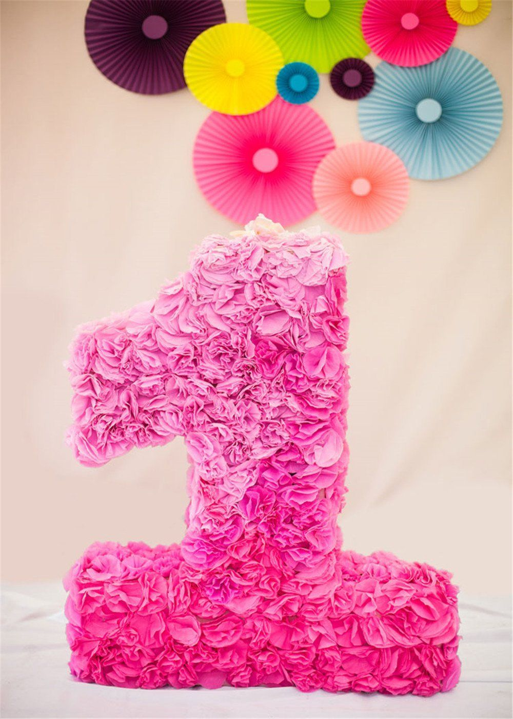 Amazon Com 5x7ft 1st Birthday Photography Backdrops Pink Flowers Background For Baby Backdrop Shoot Wrin Birthday Background Pink Backdrop Birthday Backdrop