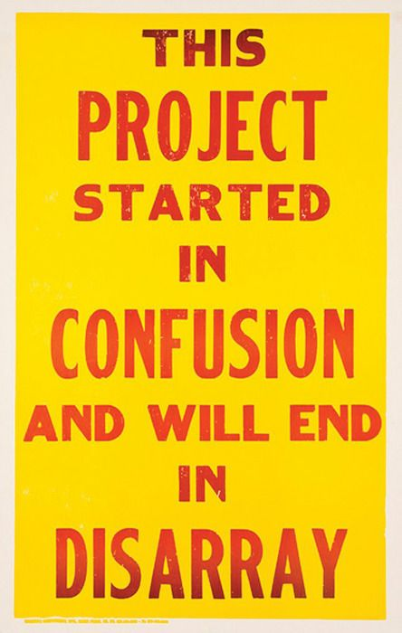 This Project Started in Confusion and will end in disarray