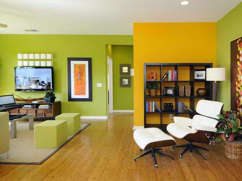 Yellow Green Living Rooms. decorating with dark green couch home ...