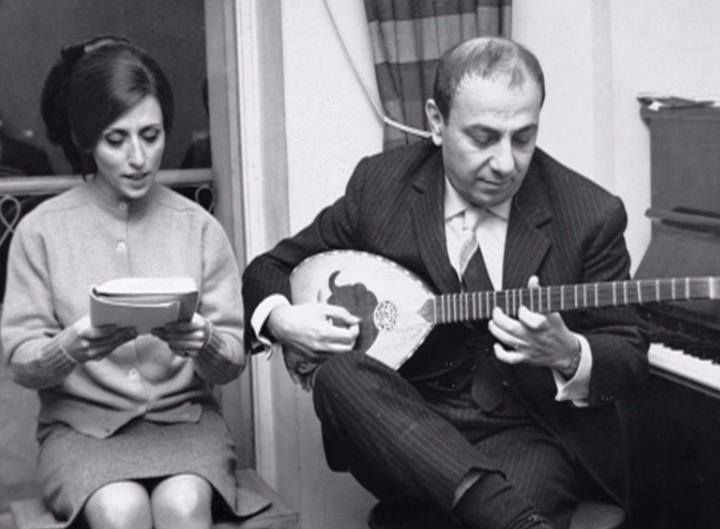 Fairuz next to her Husband Assi Rahbani   Middle east culture, Art music, Arab beauty