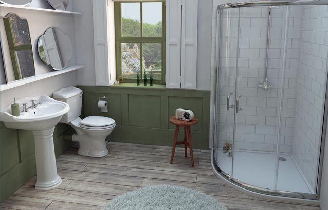 Edwardian Traditional 3 Piece Shower En Suite  - SV6400003 scene rectangle medium