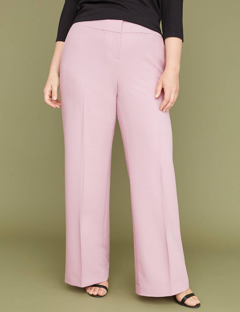 70748088daf00 Allie Tailored Stretch Wide Leg Pant - Textured