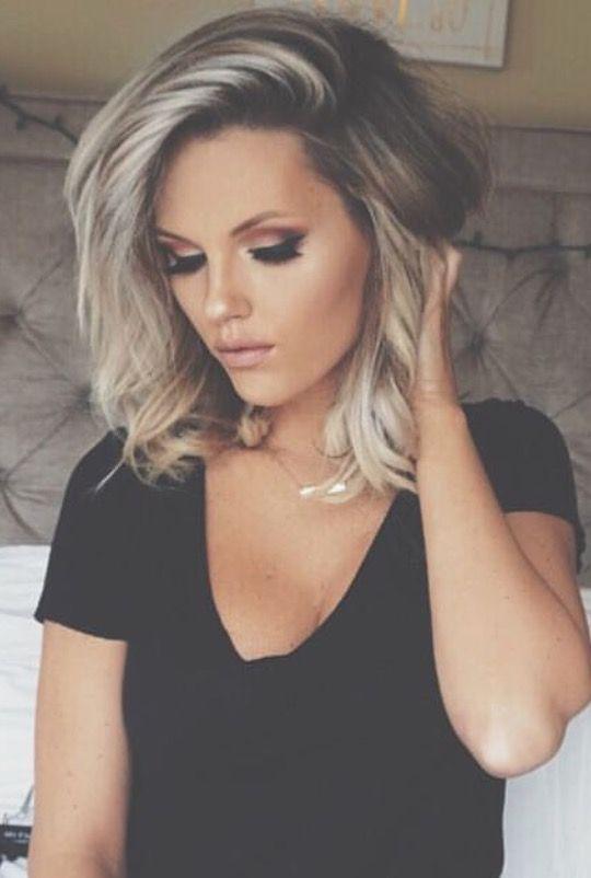 Pin Samanthatunks Shoulder Hair Hair Lengths Medium Length Blonde