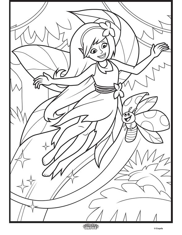 Bring This Character to Life off the Page With Color Alive, the fun - new giant coloring pages crayola
