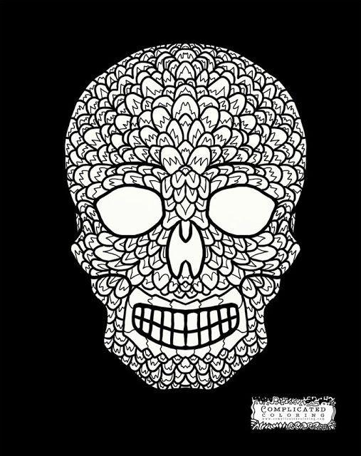 Pin de Barbara en coloring skull   Pinterest