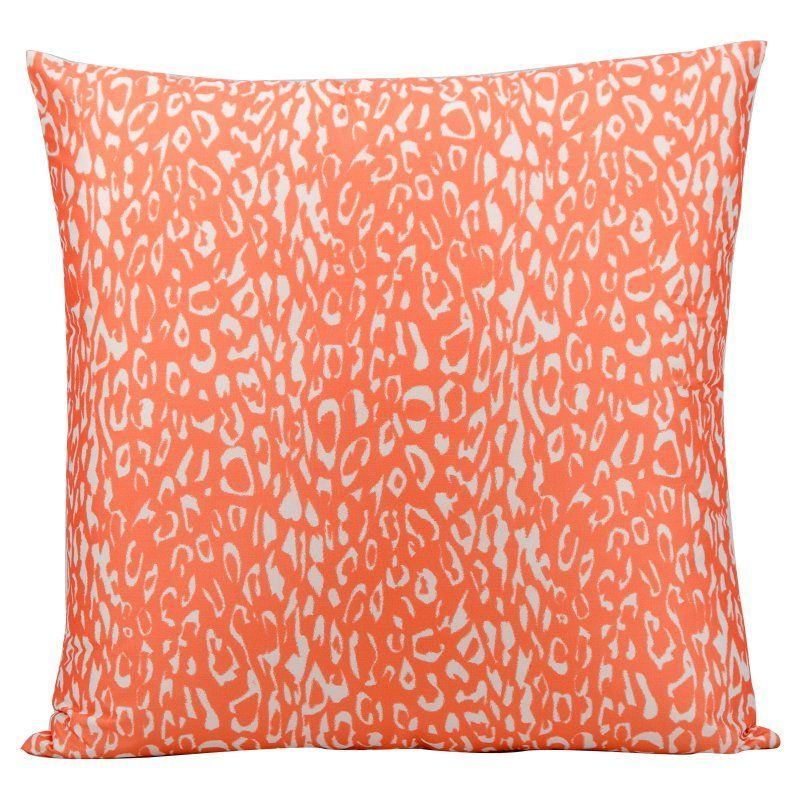 Mina Victory 20 x 20 in. Circled Outdoor Throw Pillow Orange - 798019015596