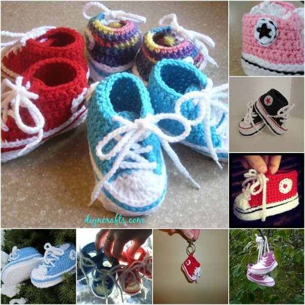 Free Pattern: Adorable Crocheted Baby Converse DIY & Crafts