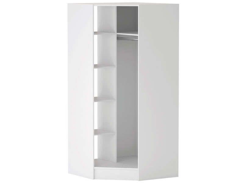 Caisse angle 1 porte PRADO coloris blanc - Vente de Armoire - Conforama Meuble De Cuisine