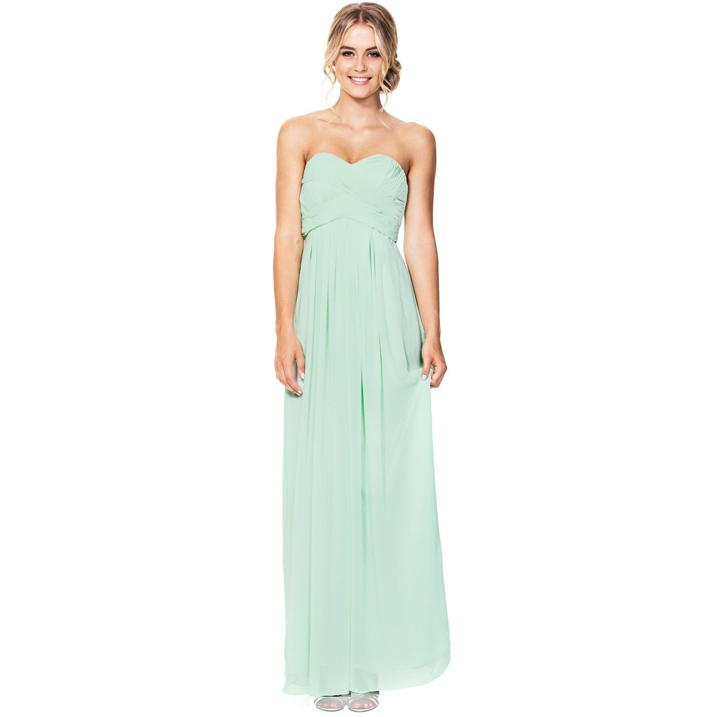 Langhem mona lisa mint formal dress swish clothing bridesmaids full length pastel mint evening dress is the ideal bridesmaid dress with a strapless sweetheart neckline perfect for any formal occasion shop this mint ombrellifo Image collections