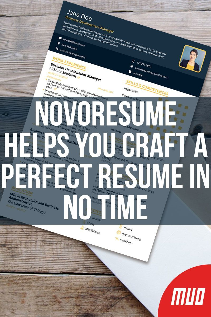 Novoresume Helps You Craft a Perfect Resume in No Time