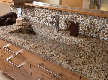 Image Of River Rock In Bathroom | River Rock Backsplash Design Ideas,  Pictures, Remodel
