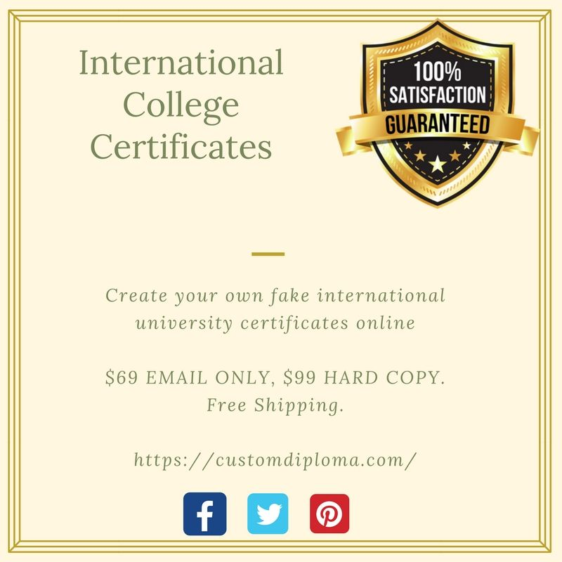 purchase all kind of fake collegeuniversity degree diplomas international college certificates we provide fast and affordable shipping options for our