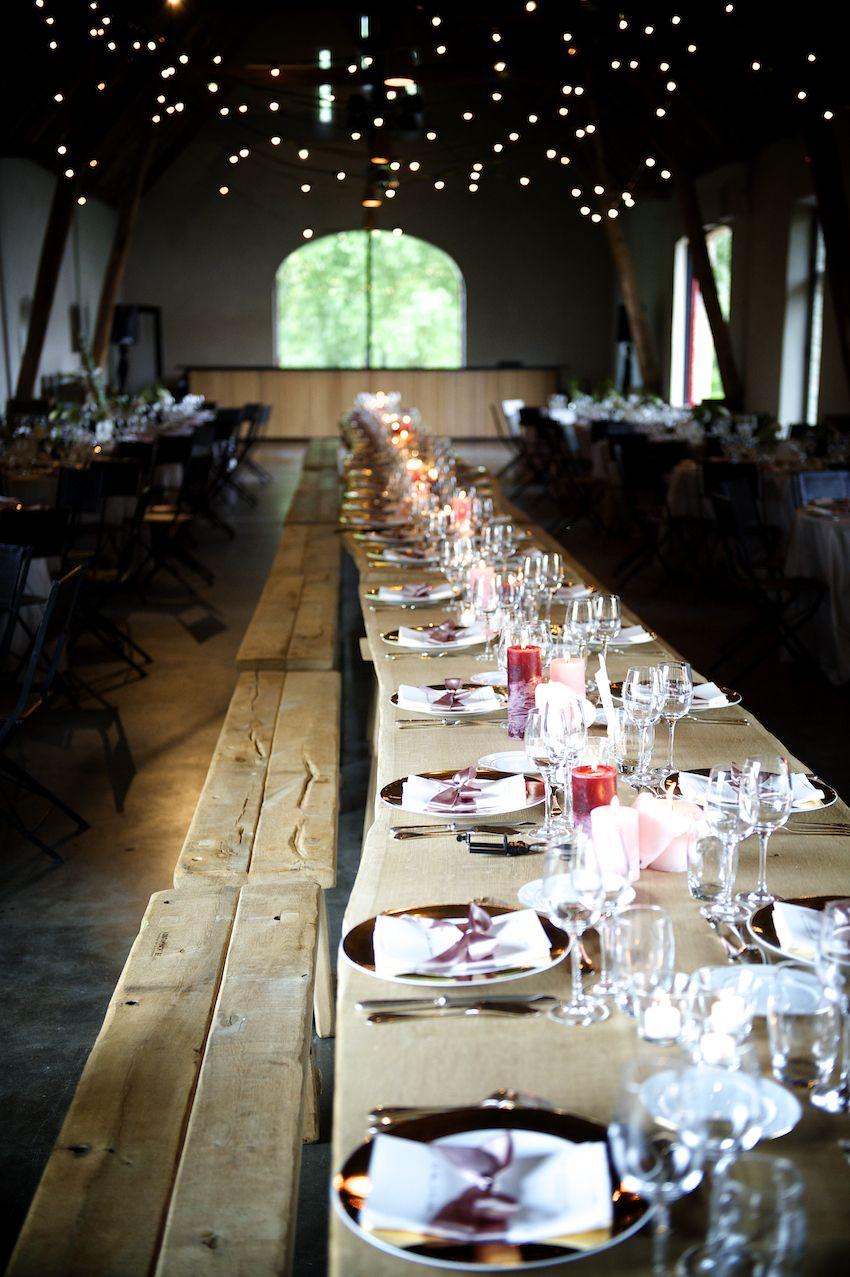 Verhuur van eiken houten meterslange tafels uit n stuk for Verhuur tafels