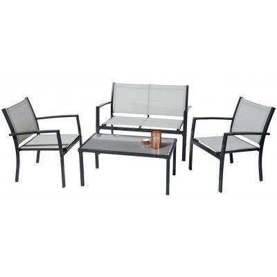 Découvrez ce set de jardin 4 pièces, parfait pour inviter ses amis à ...