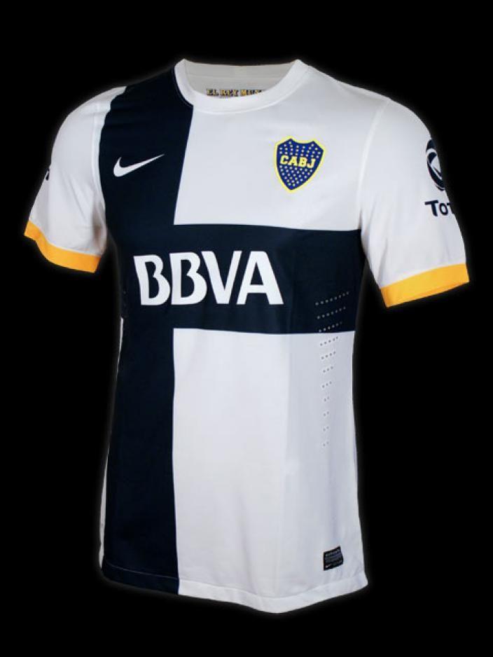 3f552f478f BOCA AWAY AUTH JRS - White. White and Black - BocaCamisetas - Nike Futbol  Argentina Store