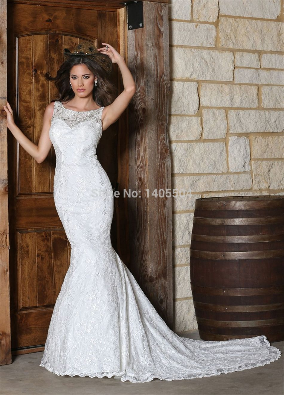 2015 new arrival mermaid beaded rhinestone Pleated luxury lace bridal gowns crystals pleats bling Wedding dress court train
