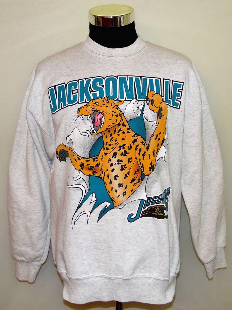 ba93c5f4 Jacksonville Jaguars NFL Old Logo 2 Sided Vintage 1993 Nutmeg ...