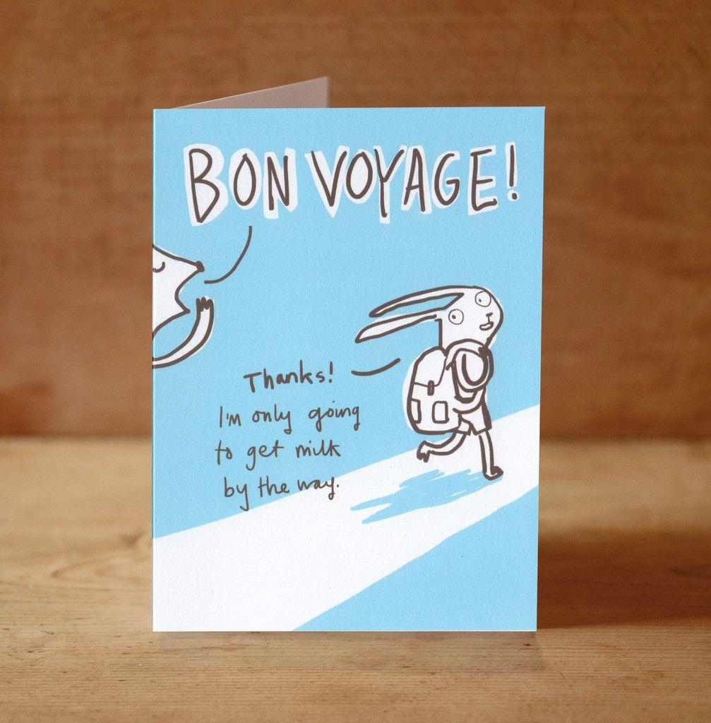 Bon voyage card greeting cards pinterest bon voyage cards bon voyage card kristyandbryce Image collections