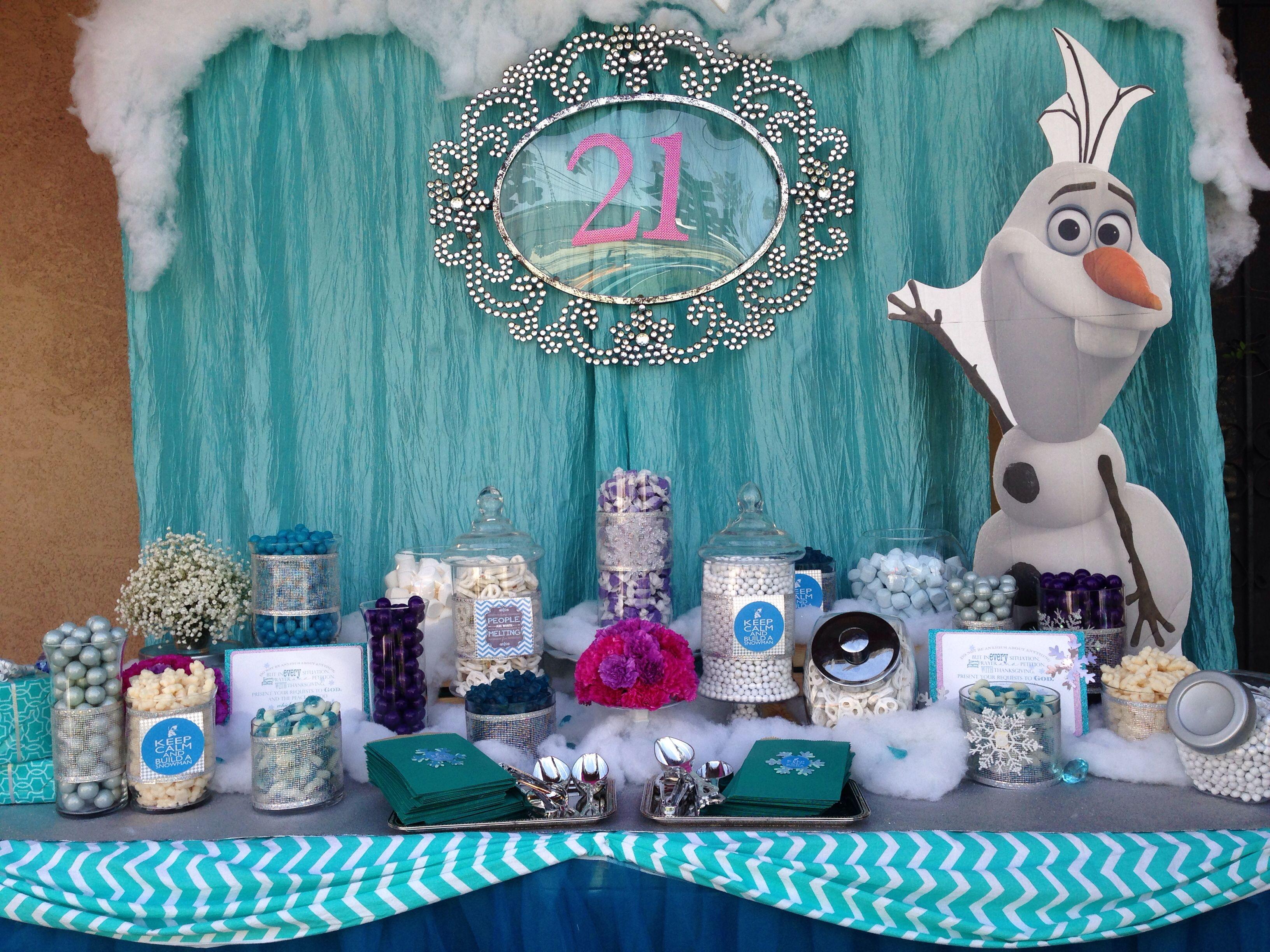 Frozen Theme Candy Table Frozen Candy Buffet Frozen Theme Party Frozen Birthday