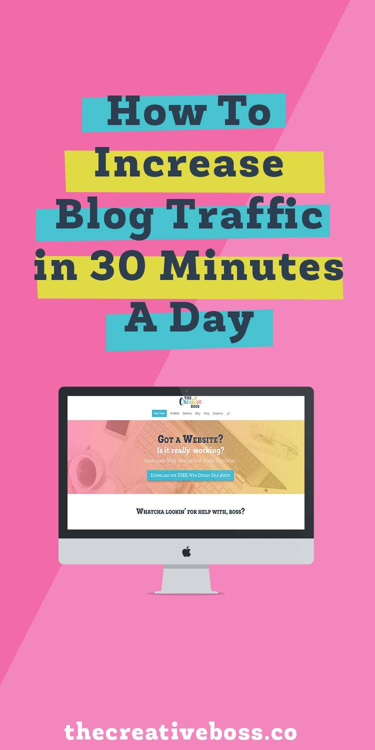 How To Increase Blog Traffic In 30 Minutes A Day Increase Blog Traffic Blog Traffic Increase Website Traffic Bosswebtraffic achieve these goals by: pinterest