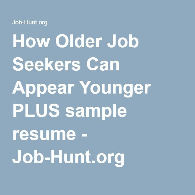 Infographic : How Older Job Seekers Can Appear Younger