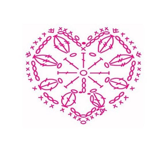 Coeurs et leurs grilles gratuites crochet pinterest - Images coeur gratuites ...