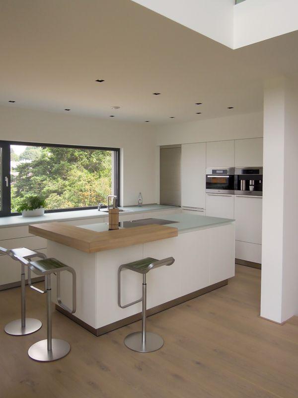 Wohnideen, Interior Design, Einrichtungsideen \ Bilder Kitchens - küche weiß mit holz