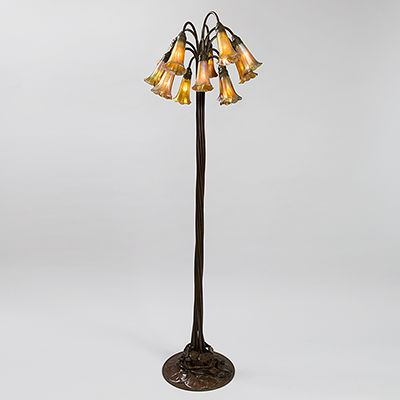 "Tiffany Floor Lamp Amusing 12 Light Lilly"" Bronze Tiffany Floor Lamp  Tiffany  Pinterest Design Inspiration"