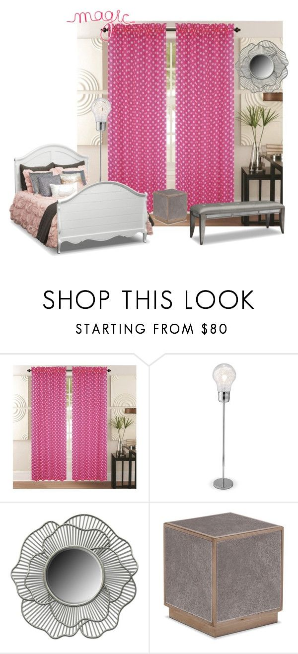 pink and proud by valuecityfurn on Polyvore featuring interior, interiors, interior design, home, home decor, interior decorating, Kashi and bedroom