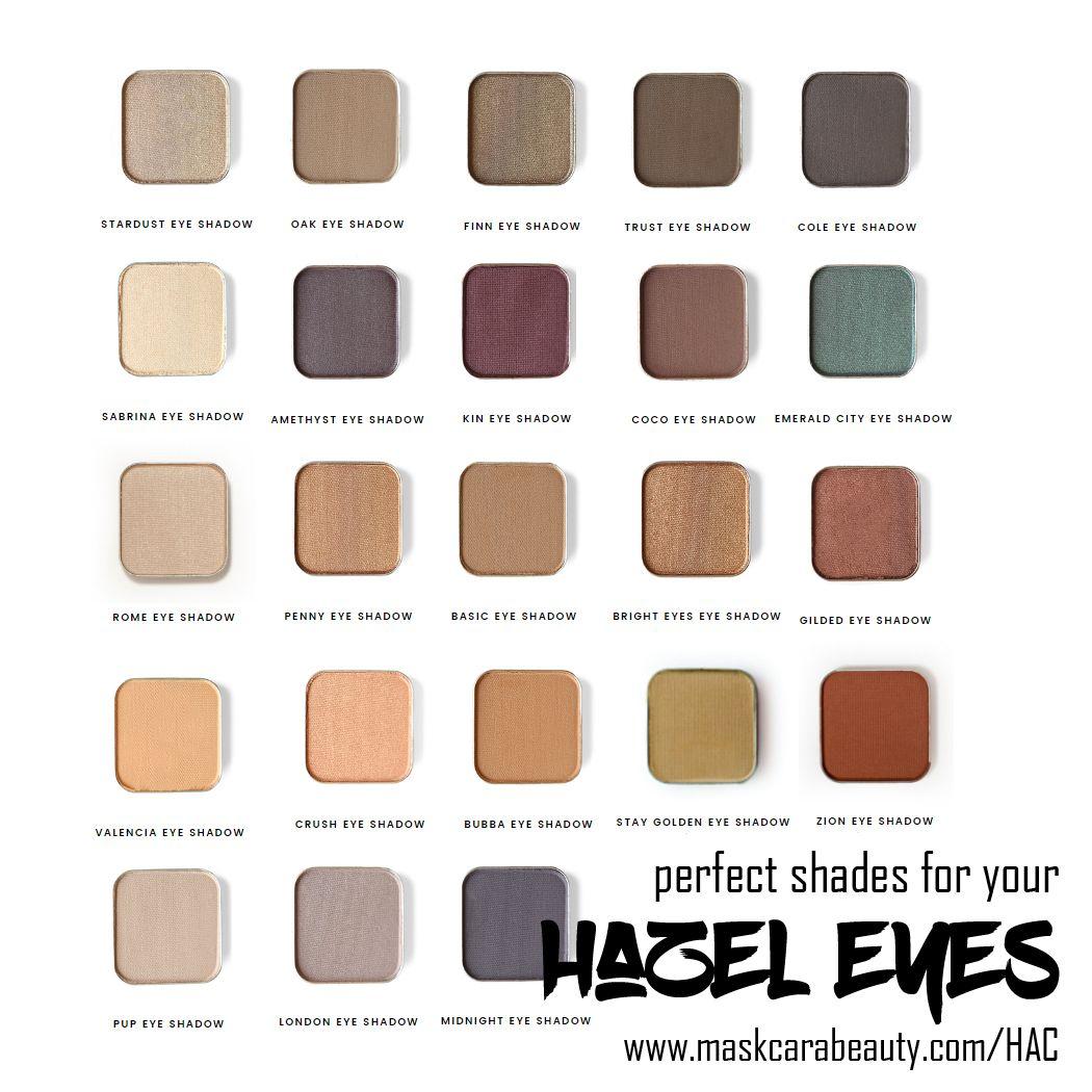 maskcara eye shadow for stunning hazel eyes: a color guide