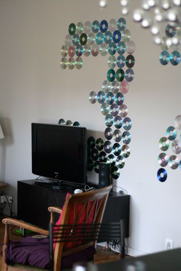 tu ne sais pas quoi faire de tes vieux cd fais en une d co de f te avec tutorial diy. Black Bedroom Furniture Sets. Home Design Ideas