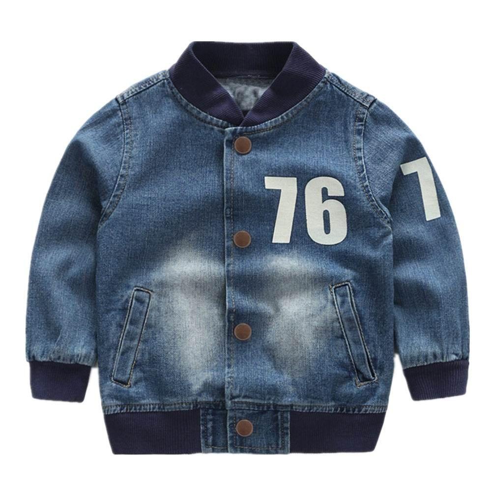 Jackets Boy Coat Bomber Jacket Denim BoyS Windbreaker Girls Jacket Letter Print Kids Children Jacket