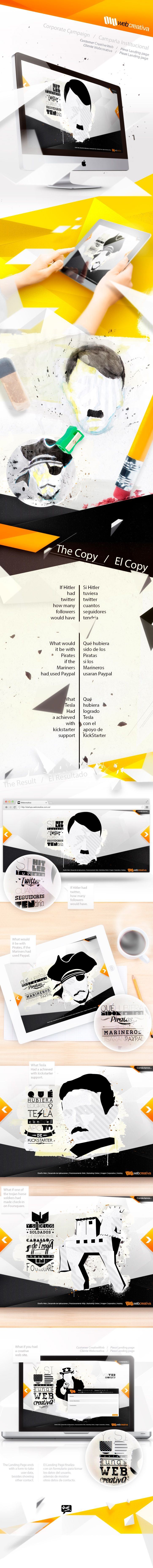 Web Creativa - via @Behance - http://www.behance.net/gallery/Campana-Institucional-WebCreativa/9298989