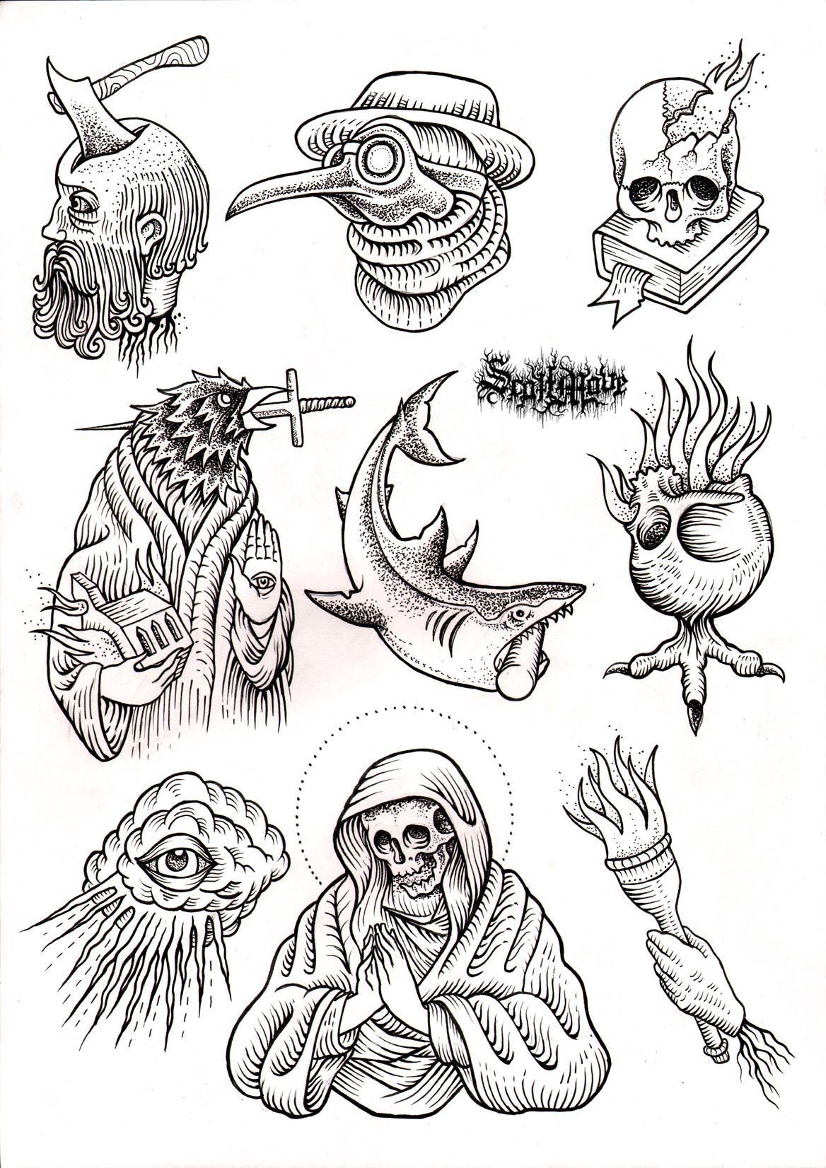 Bocetos De Tatuajes Tradicionales top left and last row in the middle. love. | bocetos