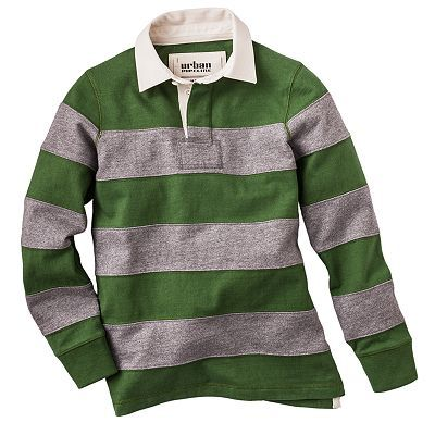 Urban Pipeline Striped Rugby Polo - Boys 8-20