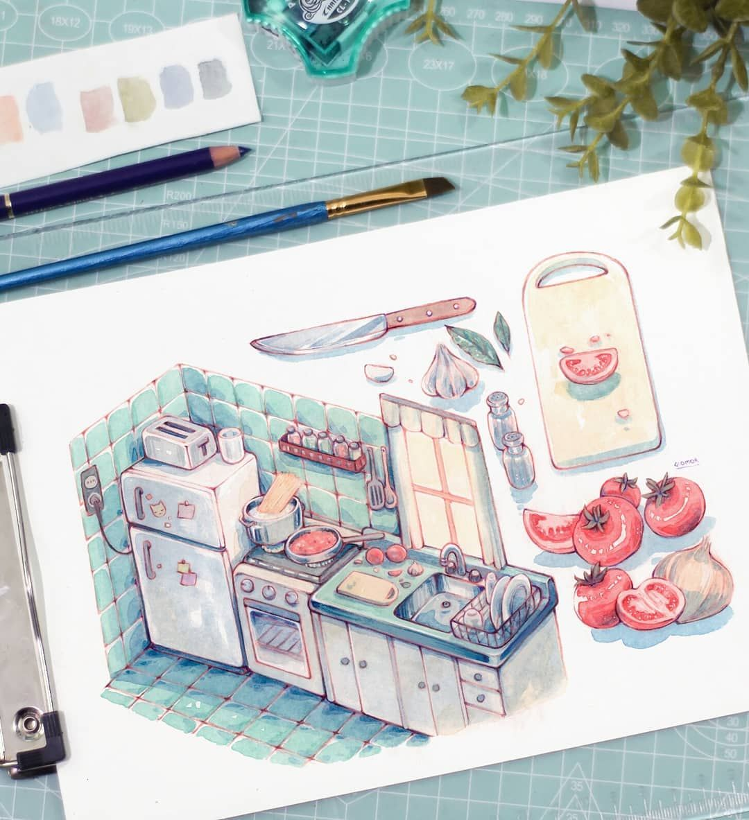 Recipe Watercolor Draw Drawing Painting Illustrator