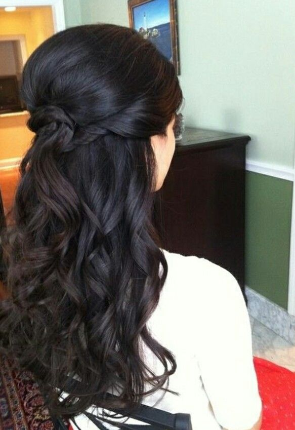 Stylish half up half down hair style Updos Pinterest Hair
