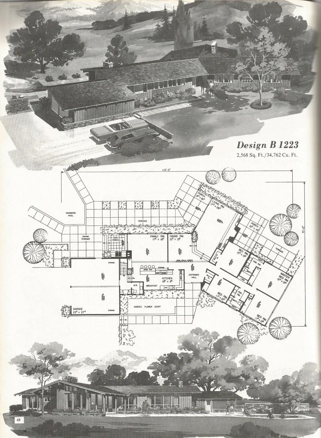 Vintage House Plans 1223 Ranch Style Homes Vintage House Plans Vintage House