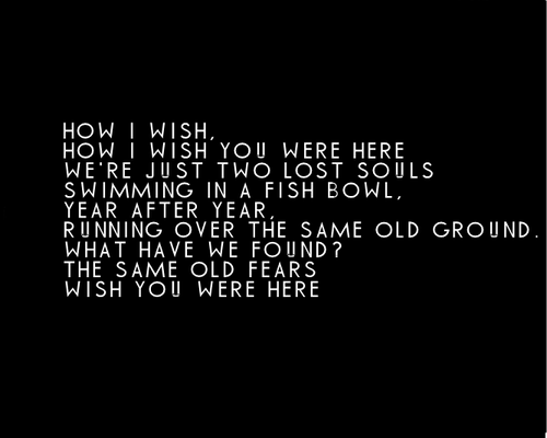 Pink Floyd Wish You Were Here Lyrics Black White Poster Barrett Music Star