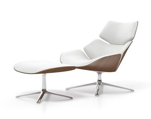 Stylischer Sessel Mit Fusshocker Shrimp By Cor Sessel Design Moderne Sessel Und Sessel Mit Hocker