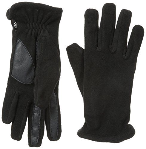 One Size Isotoner Womens Stretch Classics Fleece Lined Gloves Black