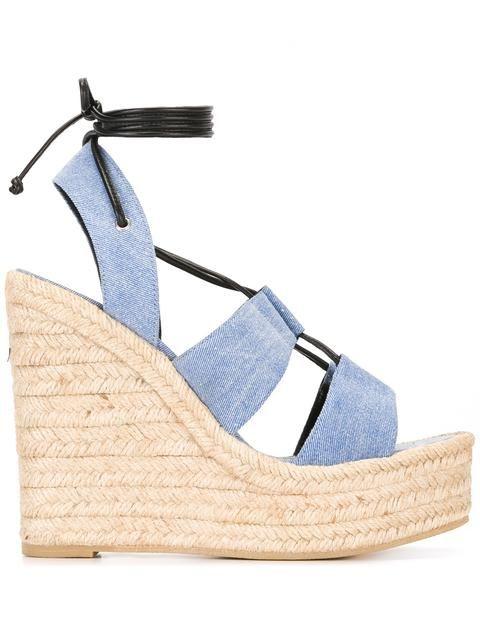 945921dc8d8 SAINT LAURENT  Espadrille 95  Lace-Up Sandals.  saintlaurent  shoes  flats