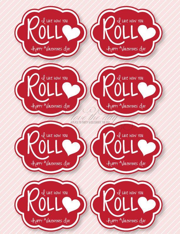 'I Like How You Roll' DIY Valentine Printable & Idea ...