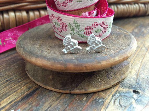 Fine Silver Buzzy Bee Stud Earrings by TillyMintSilver on Etsy