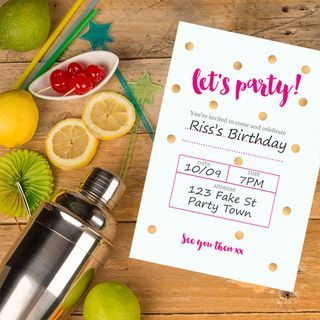 Party time, excellent: Download our free party invitation printables | Drop Dead Gorgeous Daily | Bloglovin